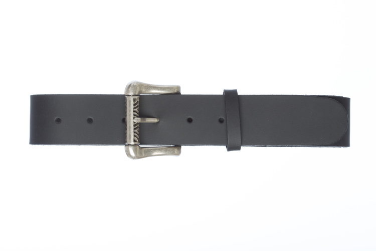 EGLE - Leather belt with square buckle
