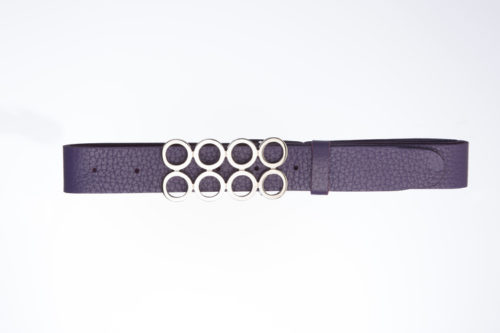 AFRODITA – Leather Belt with silver buckle