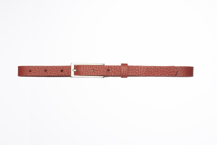ARIADNA - Leather belt with rectangular buckle
