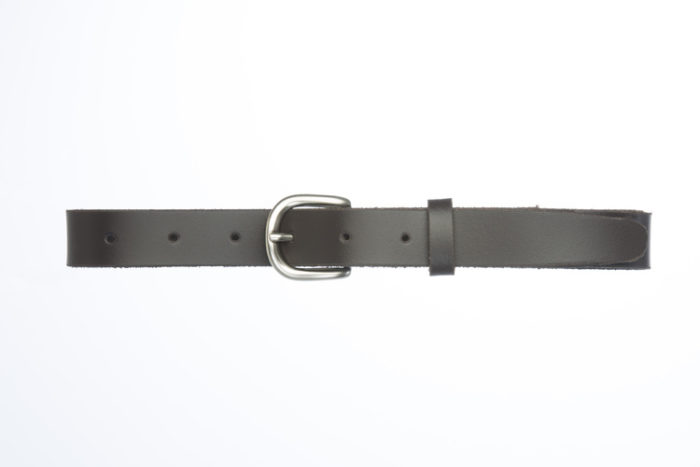NOEL M – Leather belt with rounded buckle