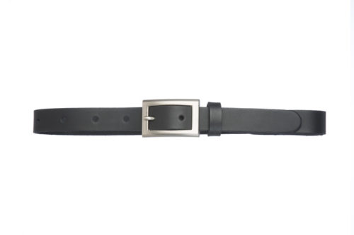 ZURI N - Leather belt with square buckle